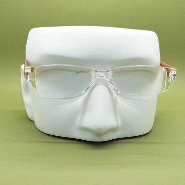 Frameless Hi Tech Reading Glasses Pearlized Glittery Bronze Side Arms +1.50 Lens