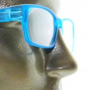 Reading Glasses Modernist Frosted Simple Tech Spring Hinge Frosted Aqua +2.00