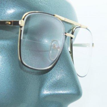 Reading Glasses True Straight Half Bifocal Lens Classic Metal Black Frame +2.00