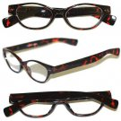 "Reading Glasses "" FUNKY Chunky FAT Cat Eye "" BOLD Tortoise Frame Reader +2.75"