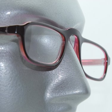 Reading Glasses Half Eye Low Rise Rise Two Tone Frame Rose Maroon +2.00 Lens
