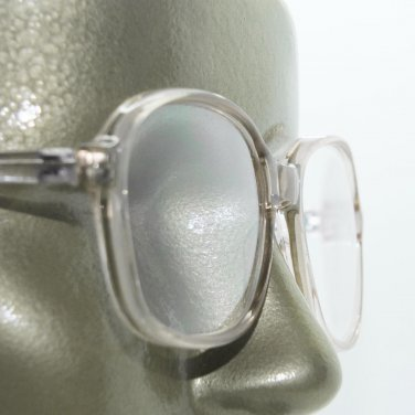 Large Lens Reading Glasses Acrylic Women's Classic Crystal Lt Gray Frame +2.00