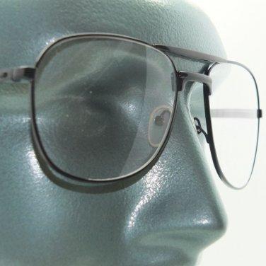 Aviator Full Lens Black Metal Frame Reading Glasses +1.75