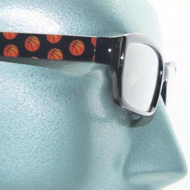 Reading Glasses Basketball Fan Sports Ball Classic Black Frame +1.00 Lens