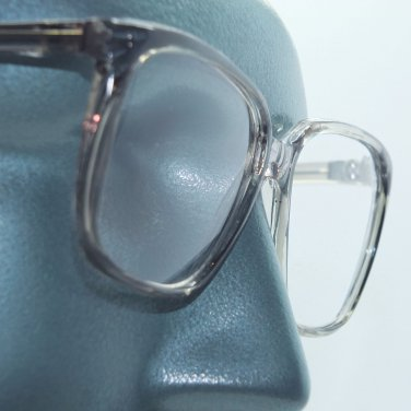 Large Square Frame Statement Gray Crystal Reading Glasses +1.00 Lens Strength