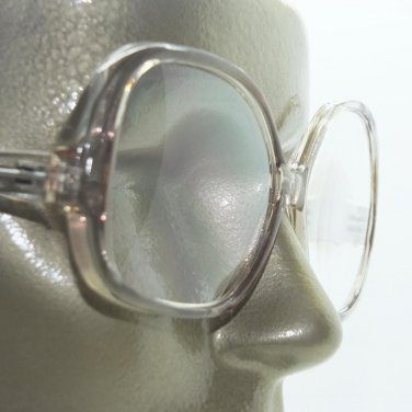 Large Reading Glasses Women's Classic Style Low Arm Big Gray Frame View +2.00