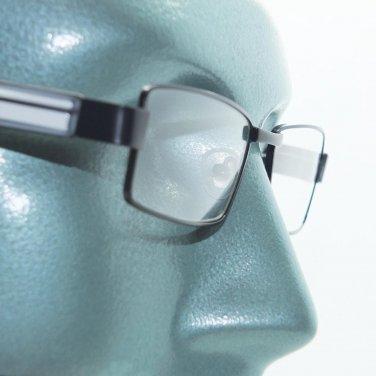 Reading Glasses Super Hi Tech Metro Metal Frame Jazz Black White Detail +3.00
