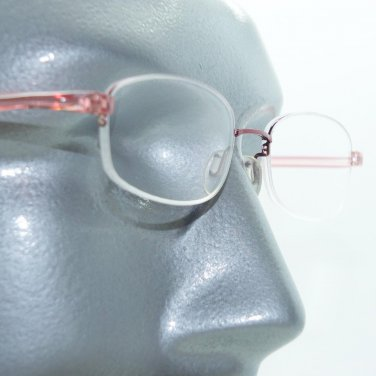 Reading Glasses Lightweight Bottomless Barely There Rose Pink Frame +3.00 Lens