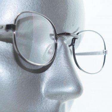 Standard Style Aquare Bridge Reading Glasses Shiny Gray Metal Frame +2.50 Lens