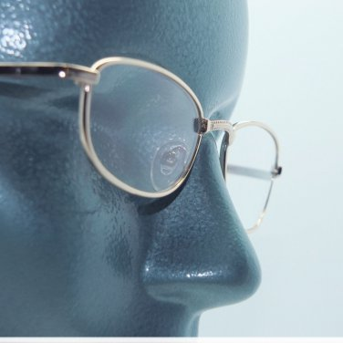 Sweet Gold Frame Simple Style Reading Glasses +1.00 Lens