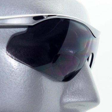 Sunglasses Bifocal Reading Glasses Full Face Sport SilverGray Frame +3.00 Reader