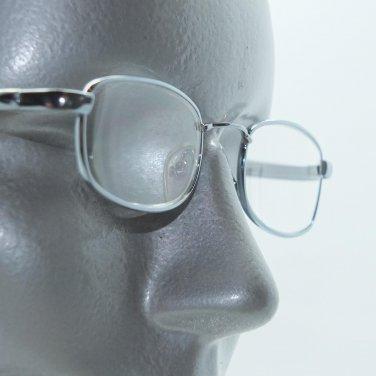 Reading Glasses Petite Small Shiny Gray Delicate Metal Frame+3.25 Lens Strength