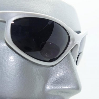 WrapAround Sunglasses +1.50 Bifocal Reading Glasses with Cord Matte Silver Frame
