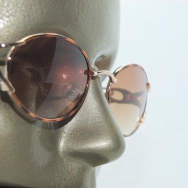 Bifocal Tinted Reading Glasses Tortoise Gold Oval Metal Frame +3.25 Lens