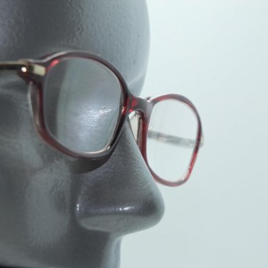 Reading Glasses Sexy Office Wine Red Frame Gold Accent +3.25 Lens Strength