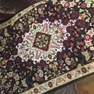 Persian rug Qom 100% natural silk hand made hand knotted  decorative art feat