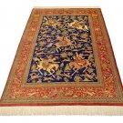 master made art feat Persian silk carpet/rug qom handmade 100% pure silk 600kpsi