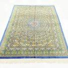 GONBADI ART FEAT Persian silk carpet/rug qom handmade 100% pure silk 576/kpsi