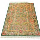tree of life design Persian silk carpet/rug qom handmade 100% pure silk 600/kpsi