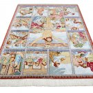 jesus design Persian silk carpet/rug qom handmade 100% pure silk 600/kpsi