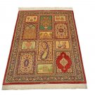 antique design Persian silk carpet/rug qom handmade 100% pure silk 600/kpsi