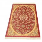 Medallion design Persian silk carpet/rug qom handmade 100% pure silk 600/kpsi