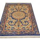 floral art design Persian silk rug qom handmade 100% pure silk 600/kpsi