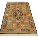unique super design Persian silk carpet/rug qom handmade 100% pure silk 600/kpsi