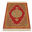 royal old design Persian silk carpet/rug qom handmade 100% pure silk 600/kpsi