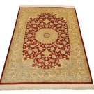 4 corner design Persian silk carpet/rug qom handmade 100% pure silk 600/kpsi