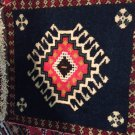 Genuine hand knotted rug decorative natural dye&natural sheep's wool art
