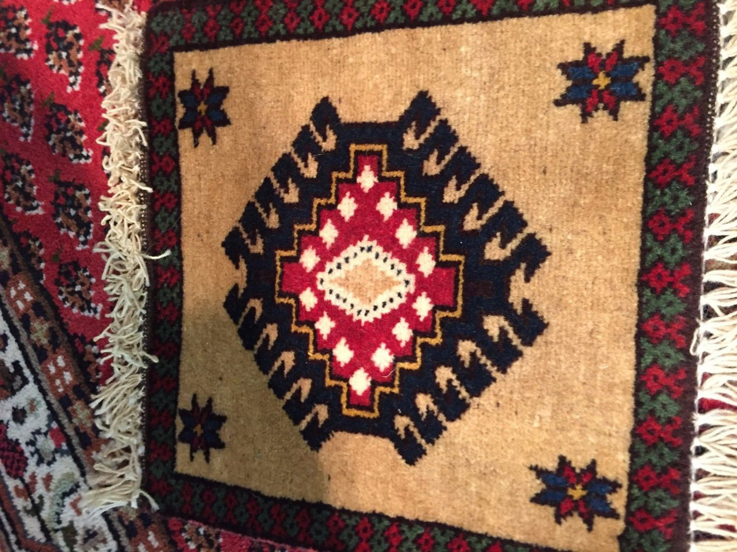 Genuine Persian hand knotted rug  natural dye&natural sheep's wool art