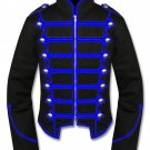 New Men's Blue Black Military Marching Band Drummer Jacket New Style 100% Cotton
