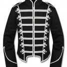 Men's Silver Black Military Marching Band Drummer Jacket New Style 100% Cotton