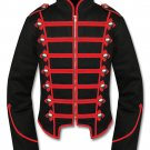 Men's Red Black Military Marching Band Drummer Jacket New Style 100% Cotton