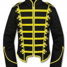 Men's Yellow Black Military Marching Band Drummer Jacket New Style 100% Cotton