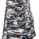 New Men Fashion Style Urban Camo Utility Kilt 100% Cotton