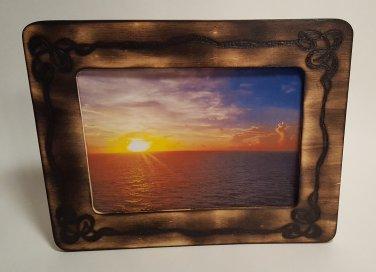 5x7 Woodburned photo frame