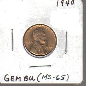 1940 Wheat Penny Ms-65 Gem Bu