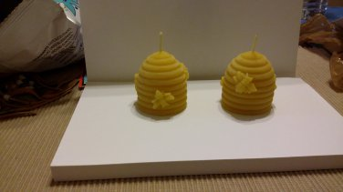 100 % pure yellow Beeswax beehive candle