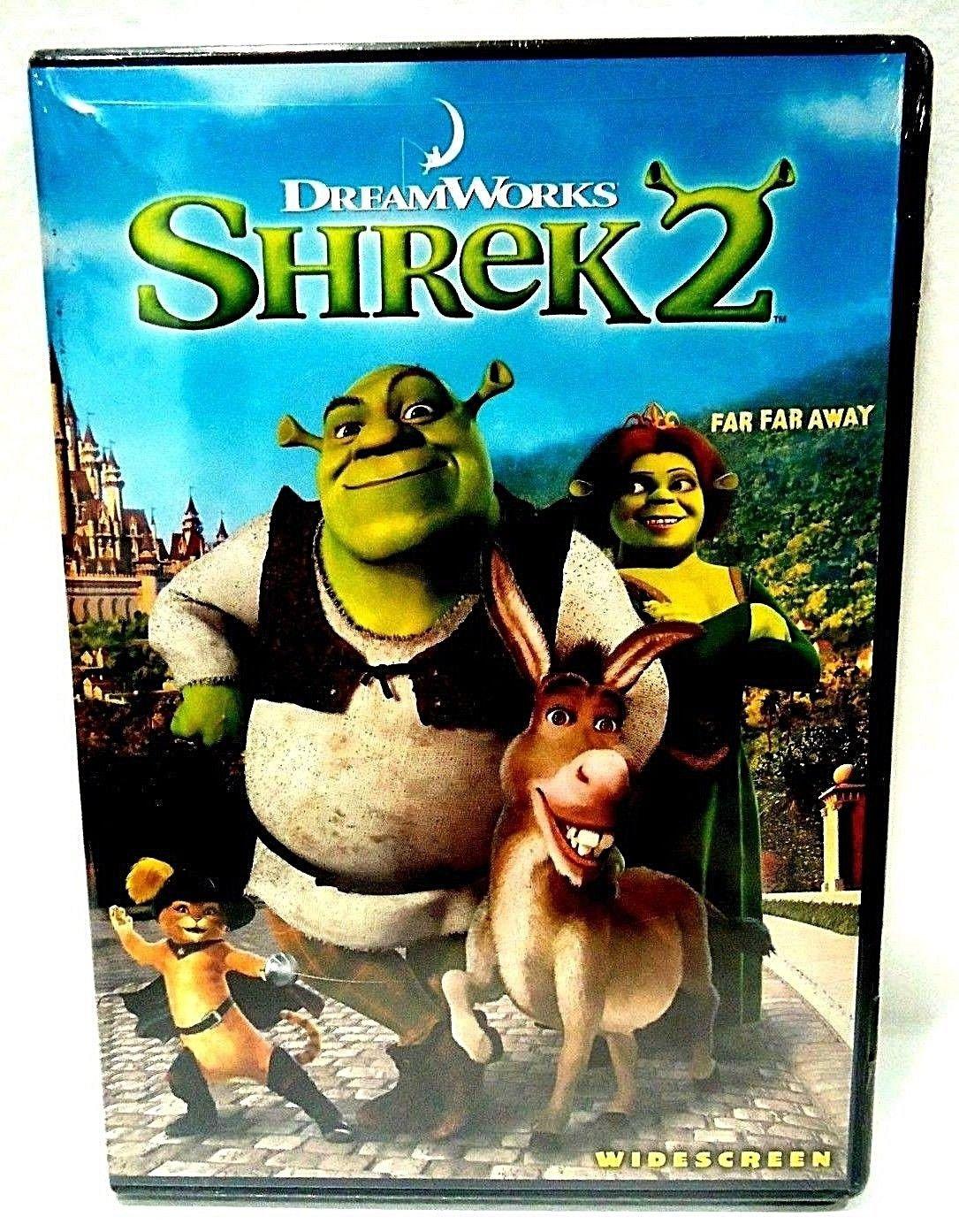 SHREK 2 - DVD - MIKE MYERS - CAMERON DIAZ - NEW - CARTOON - DREAMWORKS - MOVIE