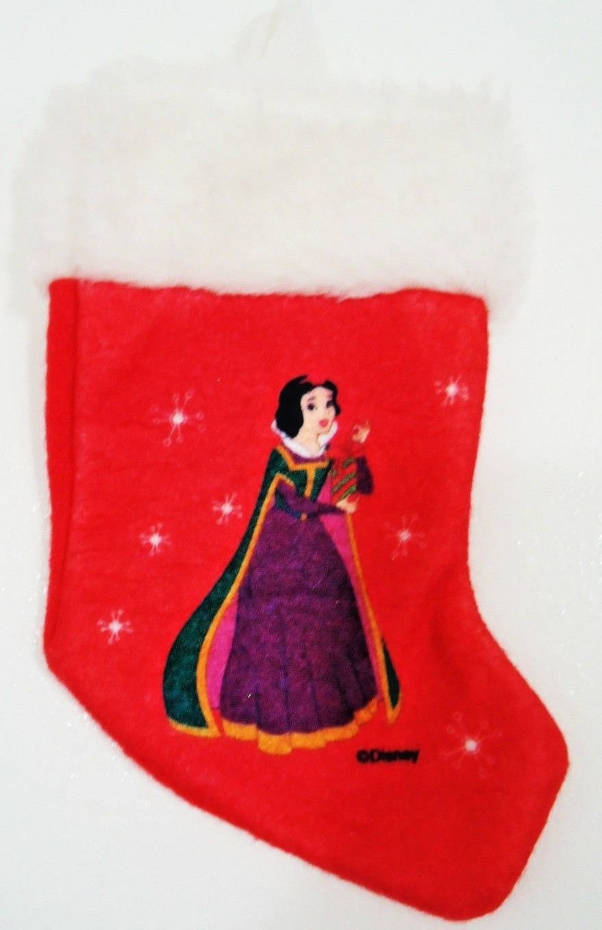 DISNEY - PRINCESS - SNOW WHITE - RED - WHITE - MINI - CHRISTMAS - STOCKING - NEW