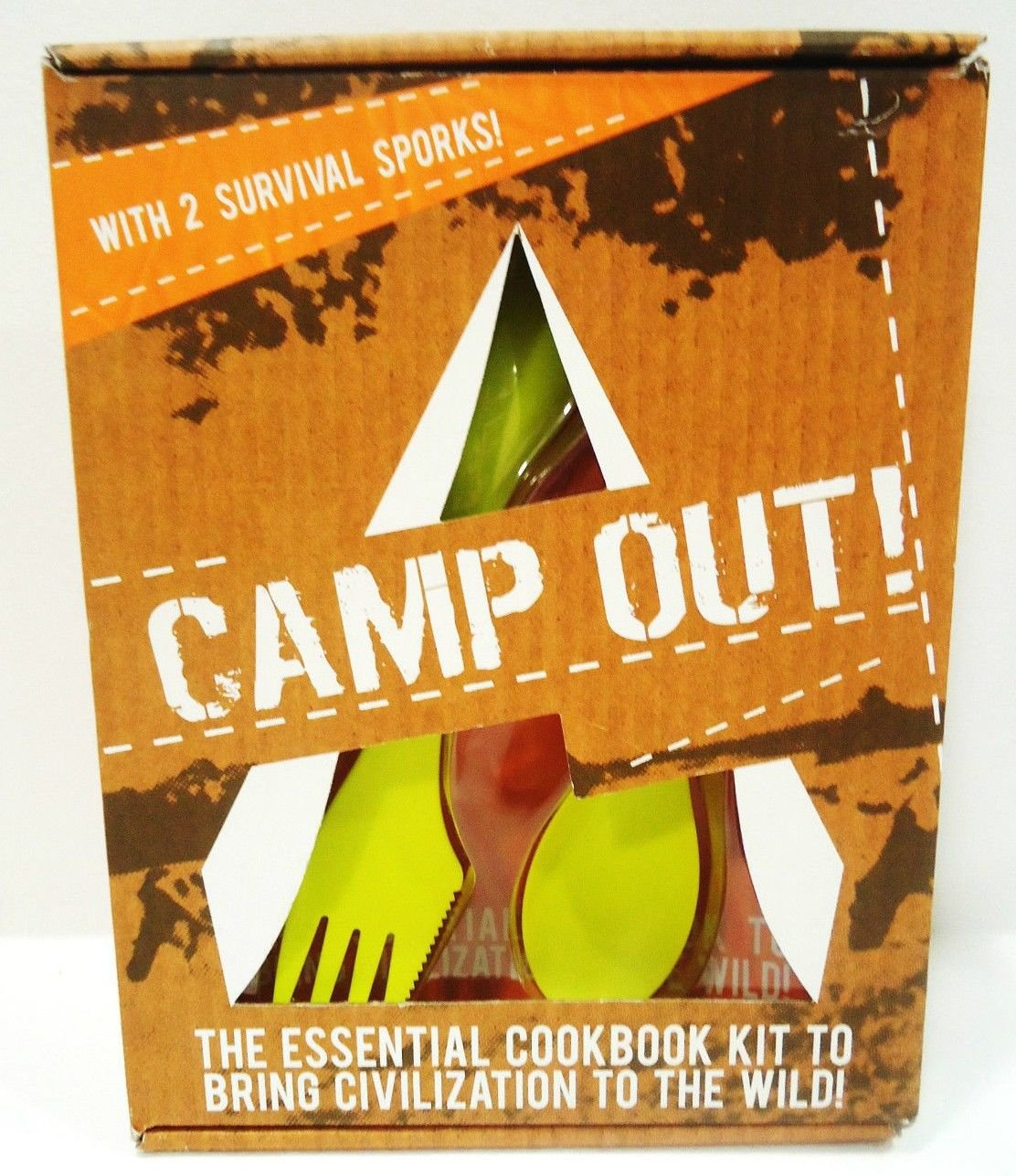 CAMP OUT - COOKBOOK - CAMPING - EQUIPMENT - SURVIVAL - SPORKS - NEW - RECIPES