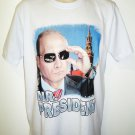VLADIMIR - PUTIN - RUSSIA - MR. PRESIDENT - XL - WHITE - T-SHIRT - NEW - KGB