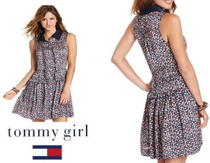 TOMMY HILFIGER - MACY'S - FLORAL - TEA - COCKTAIL - DRESS - MEDIUM - BRAND NEW