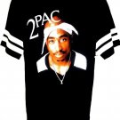 TUPAC - HIP HOP - RAP - MUSIC -  RETRO - BLACK - WHITE - T-SHIRT - MEDIUM - NEW