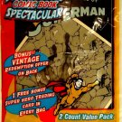SUPER HERO - COMIC BOOK - SPECTACULAR - SUPERMAN #3 - 2 PCS - TRADING CARD - NEW