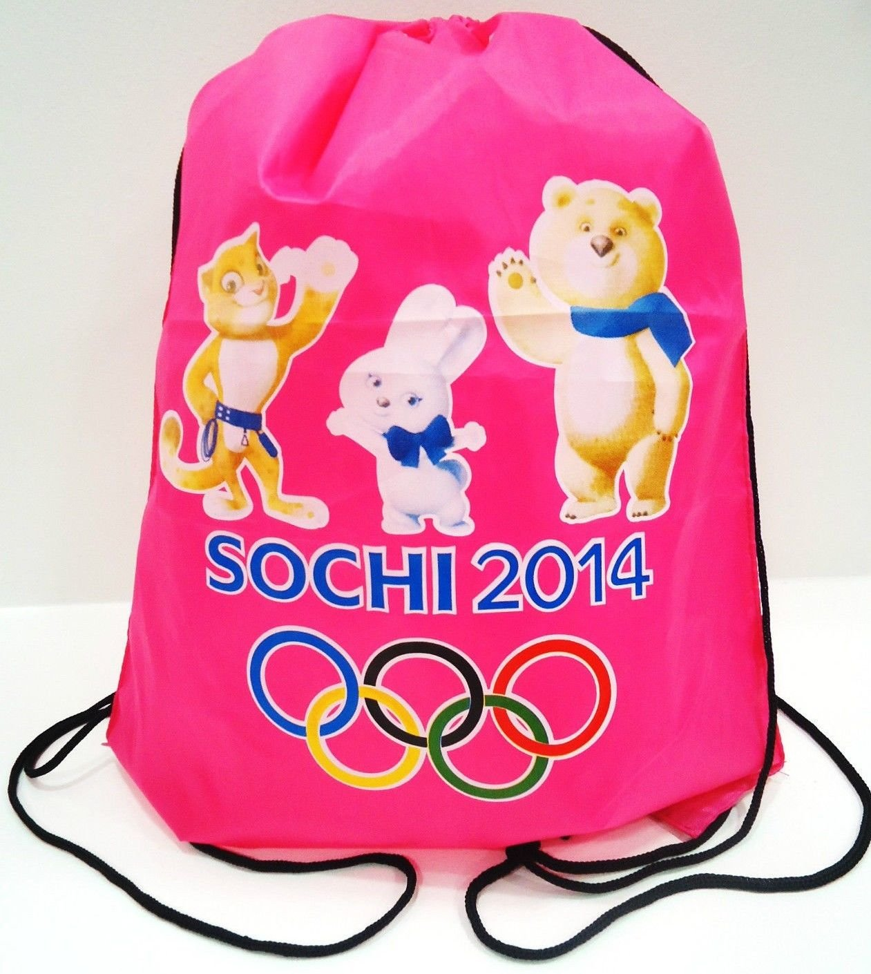 SOCHI - WINTER - OLYMPICS - PINK - MASCOT - BACKPACK - BRAND NEW - BAG - RUSSIA