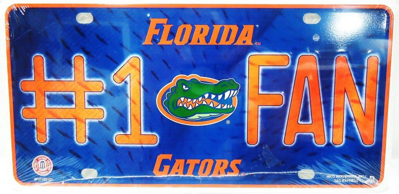 NCAA - UNIVERSITY OF FLORIDA - GATORS - #1 FAN - METAL - LICENSED PLATE - NEW
