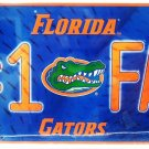 NCAA - UNIVERSITY OF FLORIDA - GATORS - #1 FAN - METAL - LICENSED PLATE - NEW